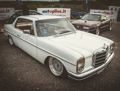Sourkrauts × Made for Petrolheads Mercedes W114, Mercedes Benz Coupe, Old Mercedes, Classic Mercedes, Cool Old Cars, Nice Cars, Volvo, Dream Cars, Classic Cars