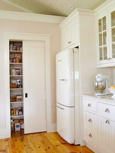 Like how hardware is different on upper cabinets and lower cabinets.