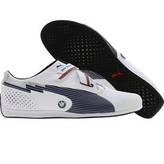 Puma Racing evoSPEED Low - BMW shoes in white and medieval blue. Should have bought them when I had a chance!