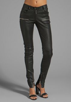 no words. these are too amazing. ANINE BING Leather Skinny Pant in Black