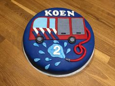 Brandweertaart - brandweer taart - Fireman cake - Koen 2 jaar