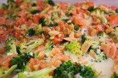 lowcarb Abendessen Brokkoli Lachs Auflaufe
