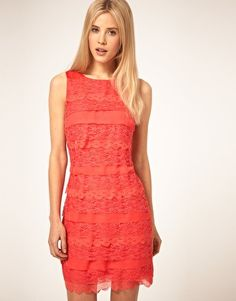 Enlarge ASOS Shift Dress in Tiered Lace $31.48