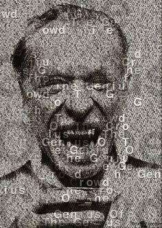 Charles Bukowski halftone poster by Daniel Kopton