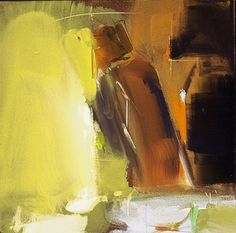 """Composition with Tilted Figure  2005  , 20 x 20"""" , oil on canvas"""