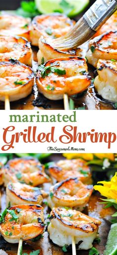 Marinated Grilled Shrimp Marinierte gegrillte Garnelen The post Marinierte gegrillte Garnelen & Delicious appeared first on Shrimp recipes . Clean Eating Recipes, Cooking Recipes, Healthy Recipes, Cooking Bacon, Simple Recipes, Simple Shrimp Recipes, Healthy Meals, Healthy Food, Cooking Dishes