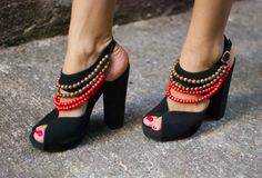 DIY Burberry Tribal High Heels