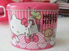 Alcancia con candado Hello Kitty