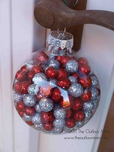 15 Ornament decorating ideas - you can fill with candy, mini disco balls, notes, etc, etc