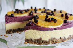 Lighten up the holidays with This Rawsome Vegan Life's orange & blueberry cheesecake