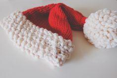 Chunky Santa Hat Free Knitting PatternMade Peachy