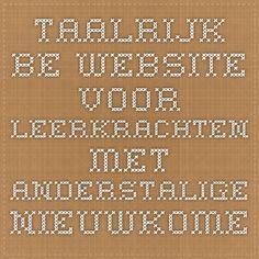 taalrijk.be website voor leerkrachten met anderstalige nieuwkomers