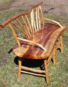 Read all of the posts by goannawood on Australian Bush Furniture Sticks Furniture, Yard Furniture, Outdoor Furniture, Outdoor Chairs, Dining Chairs, Outdoor Decor, Rustic Wooden Bench, Australian Bush, Craftsman