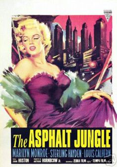 The Asphalt Jungle Marilyn Monroe Vintage Movie Poster | eTriggerz - Wall Decor, Accents, Furniture and more! | www.etriggerz.com | Santa Ana, California