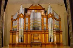 Restored Hill pipe organ, Soldiers Memorial Hall, Tanunda, Australia