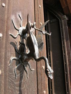 Dragon door handle  Powis Castle, Wales Destination: the World