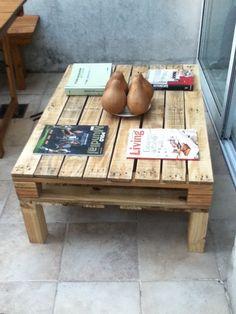 mesa ratona con madera reciclada (pallets)