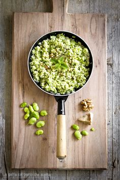 cous cous with bean pesto, fennel, mint and walnuts