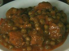 Receta fácil de albóndigas de ternera con tomate y guisantes, guisos caseros