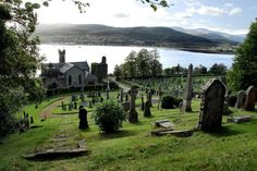 Clan Campbell Burial Grounds at Kilmun Church, Holy Loch, Argyll and Bute, Scotland. Sir Duncan Campbell, 2nd Laird of Glenorchy (my 17-times Great-Grandfather) was buried here after falling at Flodden Field with King James I of Scotland.