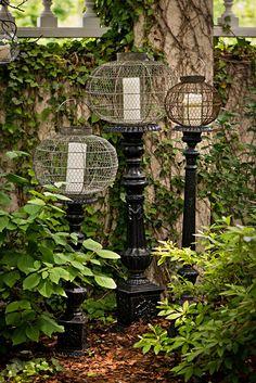Stunning DIY outdoor lighting Ideas For Your Garden or Your Porch, 2147990374 Outdoor Sconce Lighting, Outdoor Party Lighting, Lighting Ideas, Home Garden Plants, Garden Art, Garden Ideas, Dream Garden, Gothic Garden, Patio Design