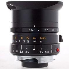 Leica 21mm f/3.4 Super Elmar-M Aspherical, Manual Focus (6-Bit Coded) Lens for M System - Black - U.S.A. Warranty