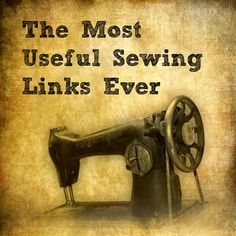 Useful sewing links for learning or improving stitchers. Includes handling different types of fabric, using different sewing machine feet and looking after your sewing machine.