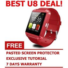 Buy GeekBite U Smartwatch U8 Bluetooth Watch (Red) online at Lazada Singapore. Discount prices and promotional sale on all SmartWatches. Free Shipping.