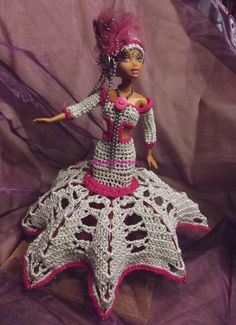 Barbie, 2013, Creations, Gown, Crochet, World, Girls, Gowns, Robe