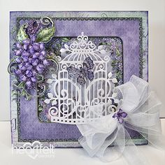 Heartfelt Creations - Glittering Lush Lilacs Project