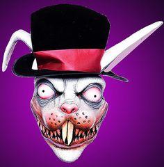 Evil Creepy Wicked White Rabbit Halloween Costume Mask | eBay