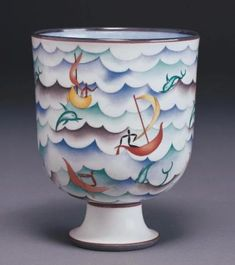 Gio Ponti, Coppa Velasca, 1927 - Richard-Ginori - ceramic bowl / vase.