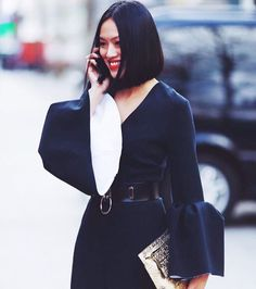 Street Style - Roksanda Bell Sleeve Dress
