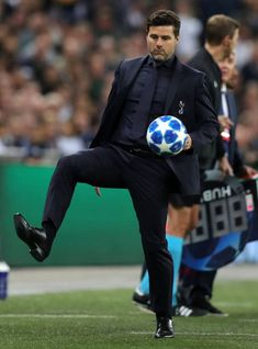 Mauricio Pochettino, Manager of Tottenham Hotspur kicks the ball during the Group B match of the UEFA Champions League between Tottenham Hotspur and FC Barcelona at Wembley Stadium on October Get premium, high resolution news photos at Getty Images Why Always Me, Sami Gayle, Tottenham Hotspur Football, Mauricio Pochettino, Wembley Stadium, Daniel Craig, North London, Uefa Champions League, Fc Barcelona