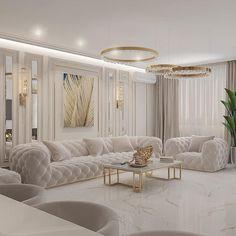 Classy Living Room, Decor Home Living Room, Living Room Designs, Home Room Design, Home Interior Design, Home Entrance Decor, Luxury Homes Interior, Home Decor Styles, Luxury Living