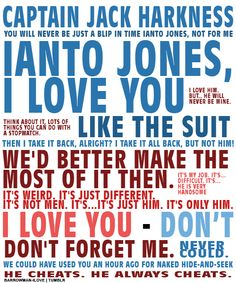 Captain Jack Harkness and Ianto Jones <3 Torchwood quotes
