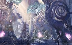 View an image titled 'Environment Art' in our Blade & Soul art gallery featuring official character designs, concept art, and promo pictures. Fantasy Concept Art, Fantasy Artwork, High Fantasy, Fantasy World, Blade & Soul, Arte Sci Fi, Fantasy Places, Fantasy Setting, Soul Art