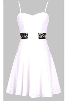 The White & Black Evening Dress $29.00
