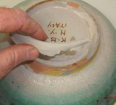 Restoring multi breaks and missing piece antique bowl