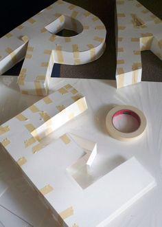 DIY Tutorial – Paper Mache 3D Letters                                                                                                                                                                                 More
