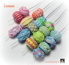 Polymer Clay Beads | ... Curled polymer clay spoons, Funky food, Portrait stamps and Coil beads