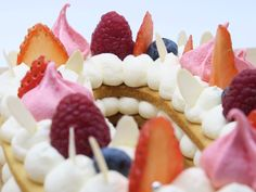 Pinky Cake, Number Cake #numbercake #gâteaudanniversaire #anniversaire #birthdaycake #fruitsrouges #chantilly Number Cakes, Raspberry, Tasty, Food, Red Berries, Recipes, Eten, Raspberries, Meals
