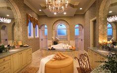 Custom bathrooms in designer homes at Vineyards Naples
