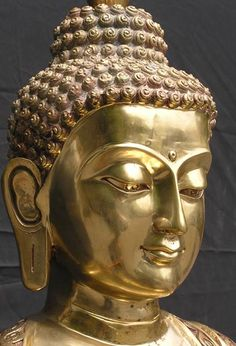 "Das dritte Auge: ""The world would be happier if men had the same capacity to be silent that they have to speak. Gautama Buddha, Buddha Buddhism, Buddha Art, Buddha Head, Buda Zen, Golden Buddha, Buddhist Philosophy, Karma, Buddha Meditation"