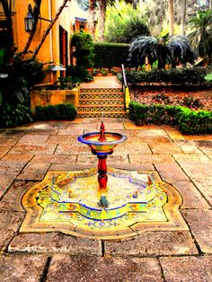 Talavera Fountain at Pinewood Estate, Bok Gardens, Lake Wales Fountain Ideas, Florida Sunshine, Journey's End, Old Florida, Special Girl, Yard Ideas, Water Features, Towers, Art And Architecture