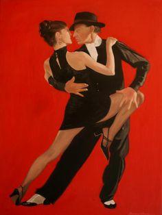 Ballroom Dance Painting - Argentine Tango by Rosencruz Sumera Tango Art, Ballroom Dancing, Jazz Dance, Ballroom Dress, Dance Wear, Dance Paintings, Indian Paintings, Tango Dancers, Arts And Crafts For Teens
