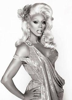 RuPaul, looking like a goddess.