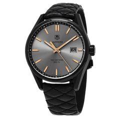 Tag Heuer Women's WAR101A.FC6367 'Carrera' Anthracite Dial Black Strap Cara Delevingne Edition Swiss Quartz Watch