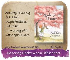 This sweet story was inspired by the real-life circumstances surrounding the loss of Angie Smith's newborn daughter, Audrey. Whimsically illustrated, Smith tells the tale of a stuffed bunny named Audrey Bunny who fears her imperfections make her unworthy of a little girl's love. She soon learns the truth that everyone is special and wonderfully made by God.