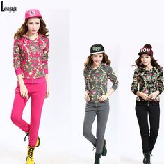 2014 Fashion 2 piece Women Print Hooded Jacket Sports Wear Tracksuit Training Fitness Casual Floral Sweatshirt 2pcs Suits Sets from Reliable Hoodies & Sweatshirts suppliers on Lossgaga Co,.LTD
